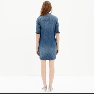 Madewell Downshift Denim Shirt Dress